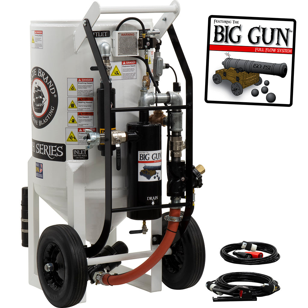 Sand Blaster 6.5 cu.ft. Big Gun Pressure Hold Electric (650 pound)