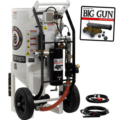 Sandblasting Equipment 6.5 cu.ft. (650 lbs.) BIG GUN pressure hold electric