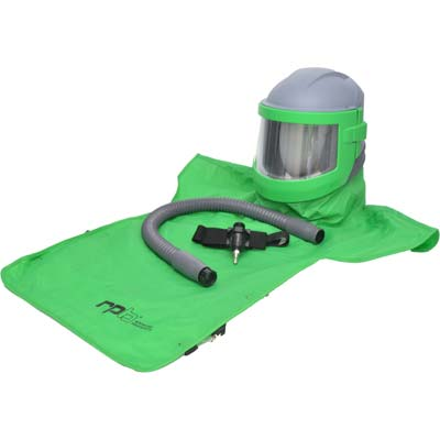 Sandblasting Helmet Nova 3 with Air Flow Control made by RPB in the USA..