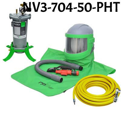 Sandblasting Helmet Nova 3 with Hot Tube made by RPB in the USA.