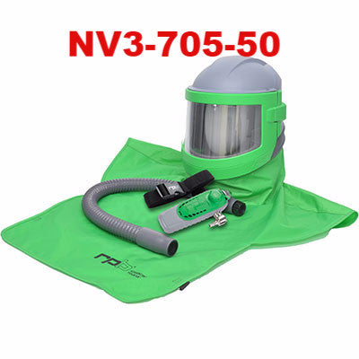 Sandblasting Helmet Nova 3 by RPB with Climate Control made by RPB in the USA
