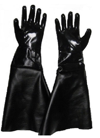 Sandblasting Gloves Heavy Neoprene Cotton Lined with Naugahyde Sleeves.