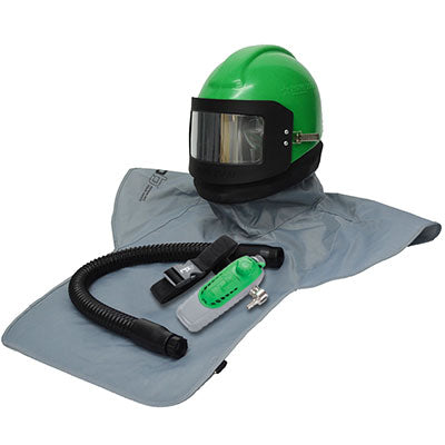 Sandblasting Helmets Nova 2000 with C40 (03-501) Climate Control made by RPB in the USA.