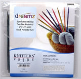 "Knitters Pride Symfonie Wood Double Point 5"" Sock Knitting Needle Set with Case"