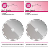Set of 2 Kay's Crochet Edge Skip Blades for Fleece 2 CroEdge Blades