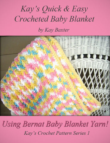 Crochet Patterns Bernat Blanket Yarn : Crochet Pattern Quick & Easy Crochet Bubblegum Blanket Made with Berna ...