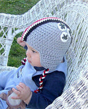Crochet Pattern for Football Helmet Beanie Instructions for Sizes Baby Thru Adult