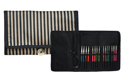 Knitters Pride Ribbons Fabric IC Knitting Needle Organizer Case Small