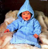 Vintage Knitting Baby Bunting Pattern Instant Download