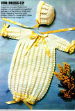 Vintage Crochet Pattern Baby Shell Stitch Bunting Instant Download