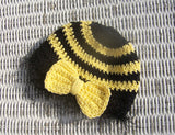 crochet pattern baby beanie hat bee