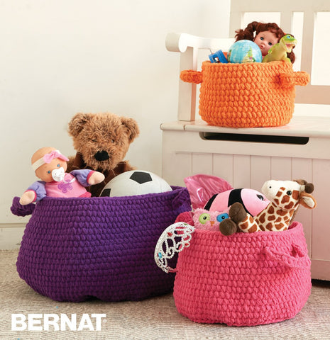 free crochet pattern bernat yarn basket
