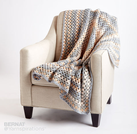 Free Crochet Pattern Bernat Pop Yarn All For One Afghan Blanket