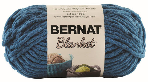 bernat blanket yarn dark teal