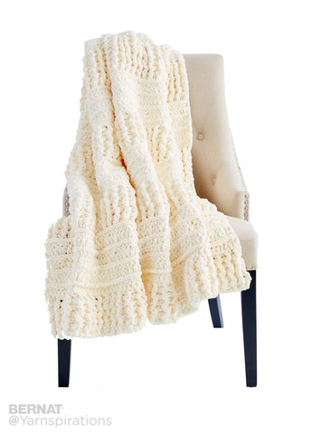 Free Crochet Pattern Bernat Here There Blanket