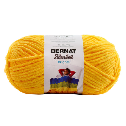 bernat blanket yarn school bus yellow
