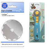 Kay' Crochet Edge Flannel Skip Blade with 45mm Rotary Cutter CroEdge TM