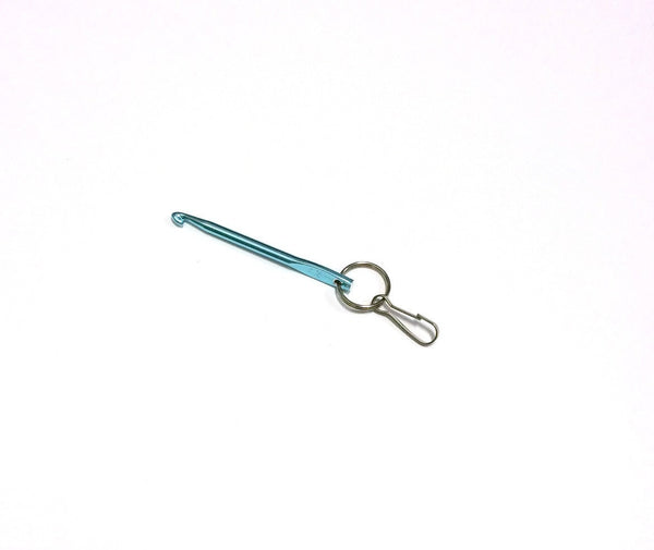 Crochet Hook Key Chain Aqua Blue Color Size 45 Made From A Real