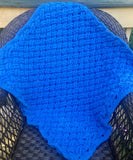 Kay's Crochet Baby Boy Blanket in Shades of Blue