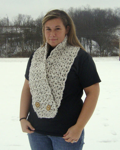 Quick and Easy Crochet Pattern Chunky Lattice Scarf Instant Download