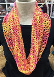 Kay's Crochet Spring Crochet Citrus Cowl Pink Orange Yellow