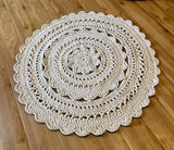 Kay's Crochet Giant Doily Rug in Cream Cottage Chic Rug
