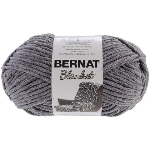 Bernat Blanket Yarn Pow Dark Grey 300 Gram Skeins