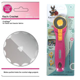 Kay's CroEdge Crochet Edge Fleece Skip Blade with 45 mm Rotary Cutter