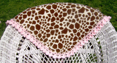 Free Crochet Pattern Giraffe Baby Blanket With Crocheted Edge