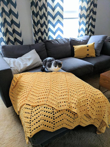 Free Crochet Pattern Bernat Maker Yarn Afghan Ripples in the Sand