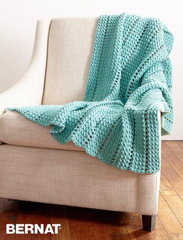 crochet kit Bernat eyelet and textures afghan