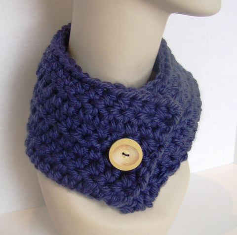 Quick And Easy Chunky Crochet Cowl Neck Scarf Pattern Instant