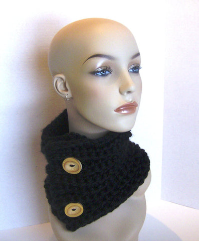 Quick and Easy Chunky Crochet Cowl Neck Scarf Pattern Instant Download