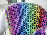 Free Crochet Pattern for a Skip Stitch Fleece Blanket with Crocheted Edge