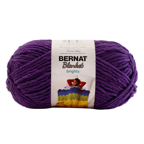 Bernat Blanket Brights Yarn Pow Purple 300 Gram Skeins