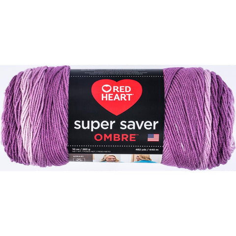 Red Heart Super Saver Ombre Yarn Violet