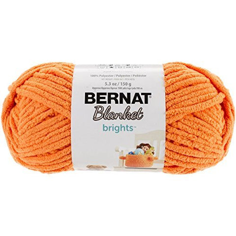 bernat blanket brights yarn carrot orange