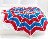 Free Crochet Pattern Bernat Blanket Brights Spiderman Spiderweb Blanket