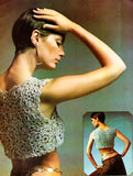 Vintage Crochet Pattern Crop Bolero Top Instant Download