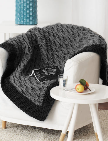 Free Crochet Pattern Quick And Easy Afghan Made With Bernat Blanket