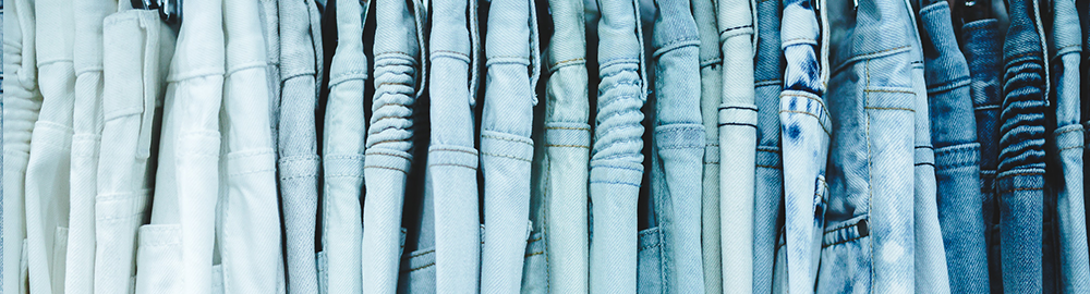 Embellish Light Blue and White Denim