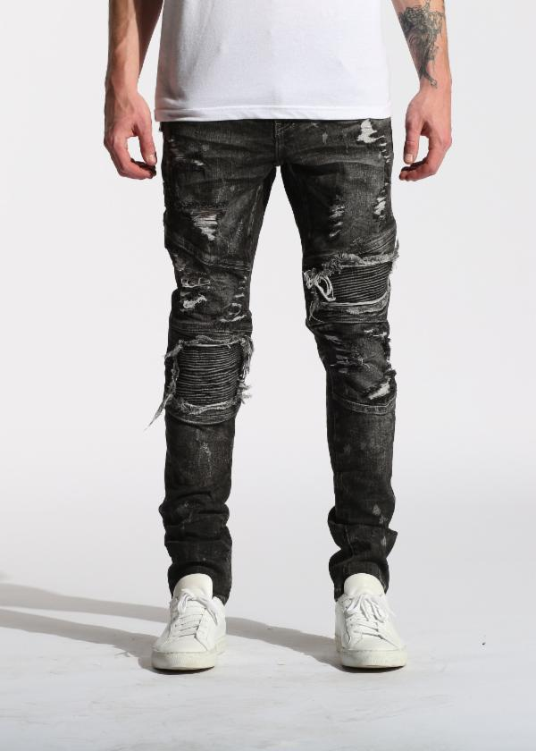 Volstead Biker Denim (Black Rip)
