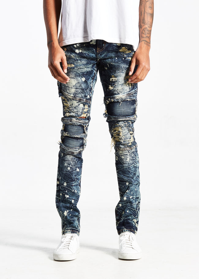 Morrison Biker Denim (Dusty Blue)
