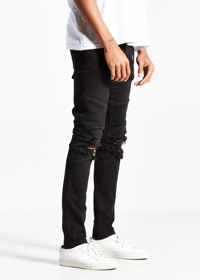 Joan Biker Denim (Jet Black)