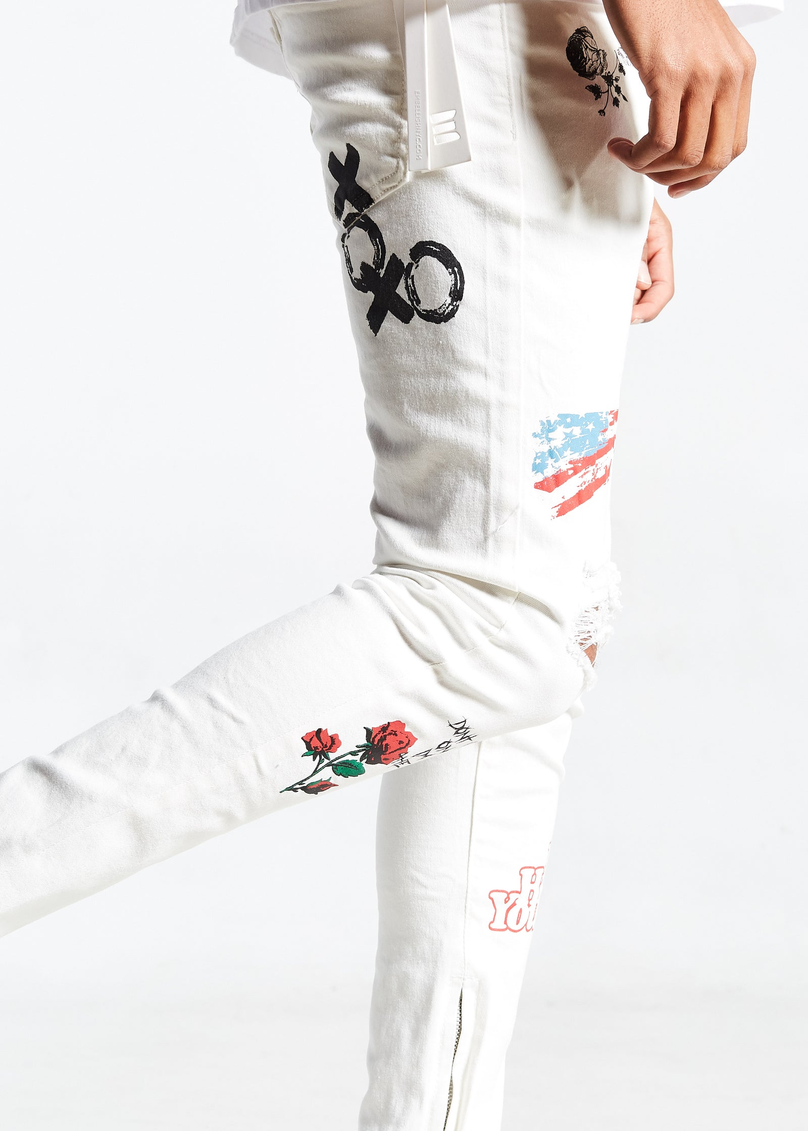 Paint N'Roses Standard Denim (White)