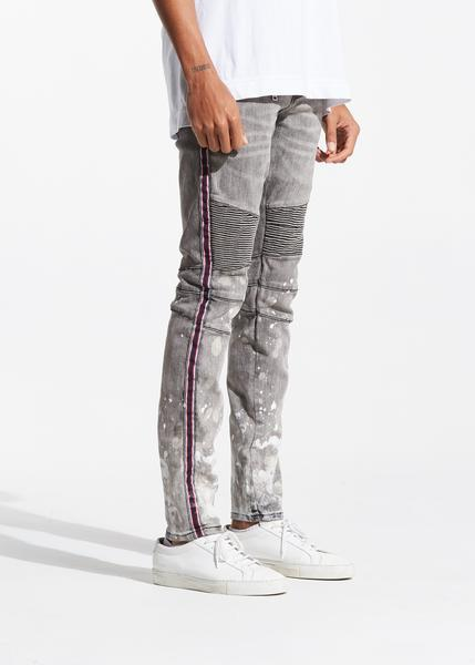 Johnnie Biker Denim (Grey)