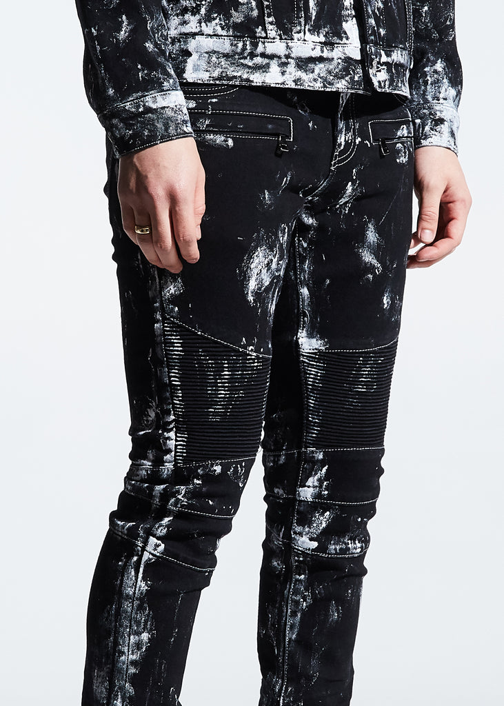 Mays Biker Denim (Black Paint)