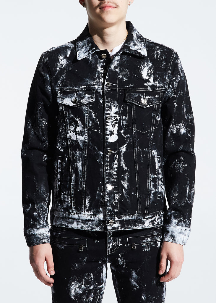 Mays Denim Jacket (Black Paint)