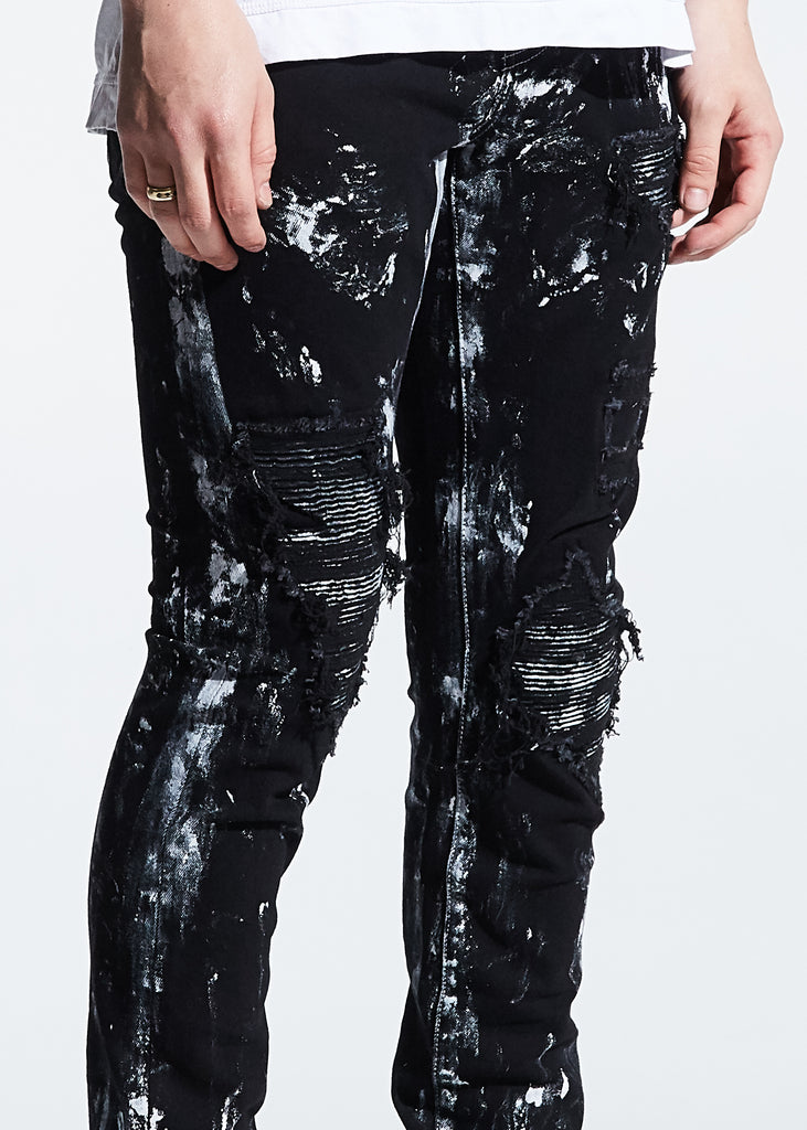 Mays Rip and Repair Denim (Black Paint)