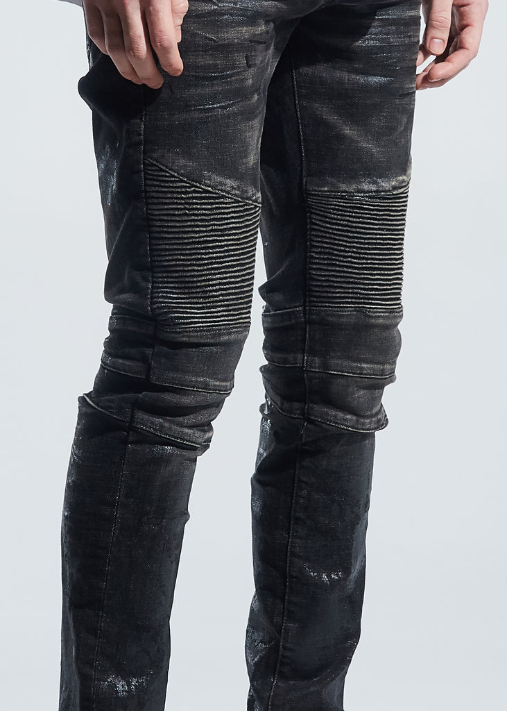 Morant Biker Denim (Waxed Black)